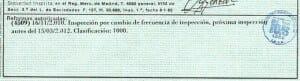 Ficha técnica de coche de alquiler.
