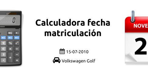 banner calculadora fecha matriculacion y modelo