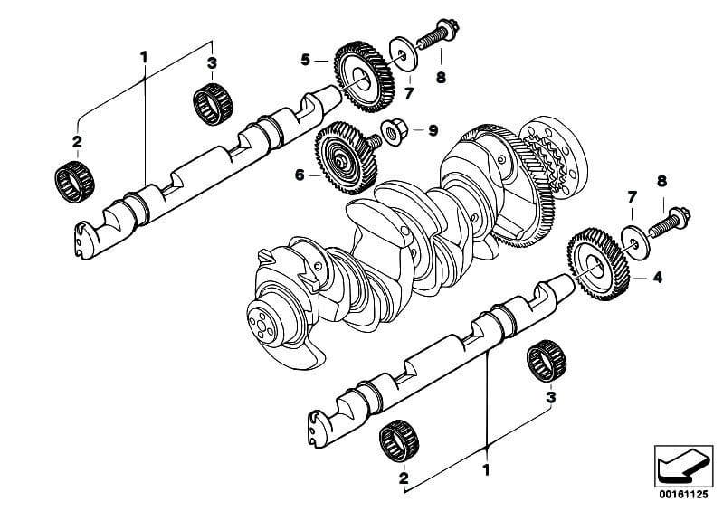 problema cadena distribucion motores N47 BMW - esquema-N47-inferior