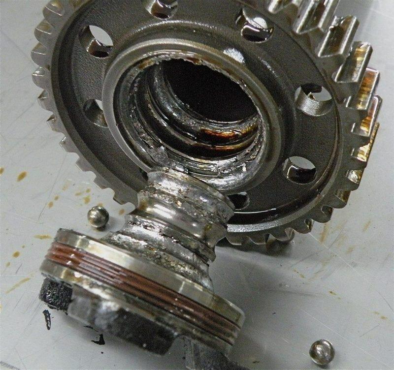 problema motor porsche - Rodamiento de bolas IMS destruido